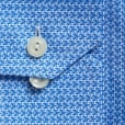 Eton Shirts Slim Fit Blue Houndstooth Shirt With Extreme Cutaway Collar 26627351125