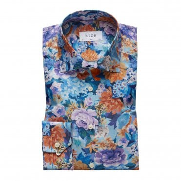 Eton Shirts Slim Fit Flower Print Shirt