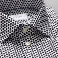 Eton Shirts Slim Fit White Shirt With Black Spotted Pattern 20767951101