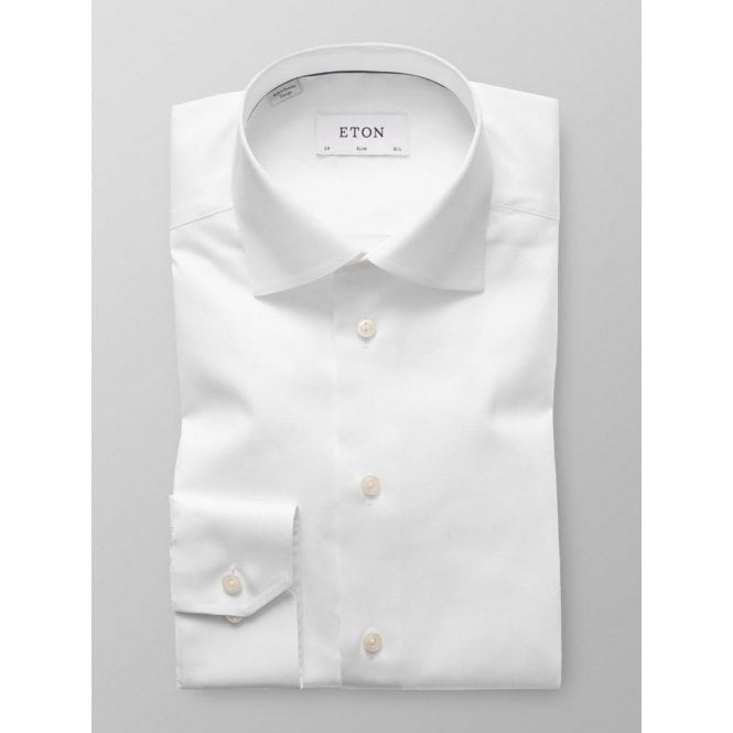 Eton Shirts Slim Fit White Signature Twill Cotton Shirt 30007951100