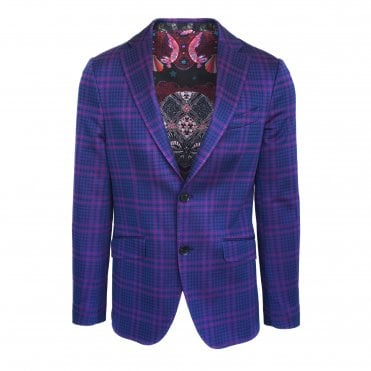 Etro Black Cherry Check Jersey Jacket