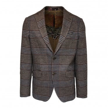 Etro Brown Check Jacket