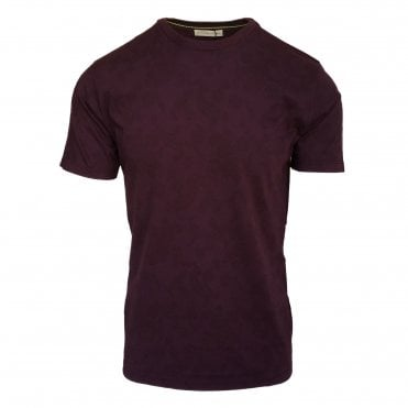 Etro Burgundy Subtle Mini Paisley Pattern T-Shirt