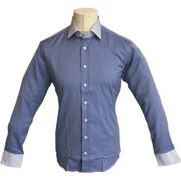 Etro 'Camicia New Warrant 2 Tessuti' Light Blue Patterned Shirt 12910 3008 - 0200