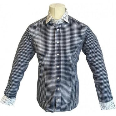 Etro 'Camicia New Warrant 2 Tessuti' White/Navy Check/Paisley Pattern Shirt 12910 3070 - 0200