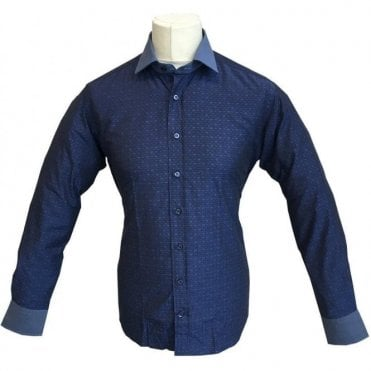 Etro 'Camicia New Warrant 3 Tessuti' Navy Patterned Shirt 12911 3201 - 0200