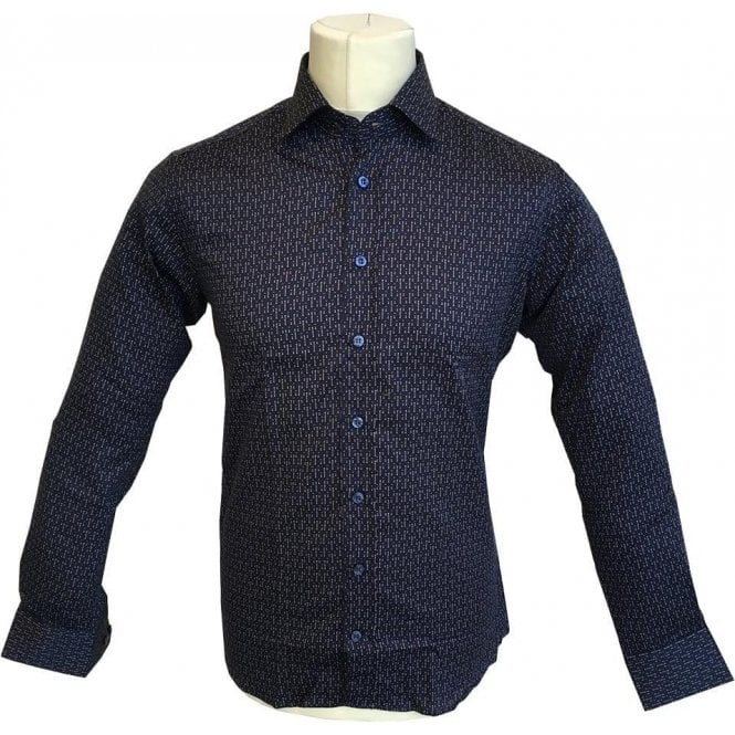 Etro 'Camicia New Warrant' Navy Spotty Shirt 12908 5725 - 0200
