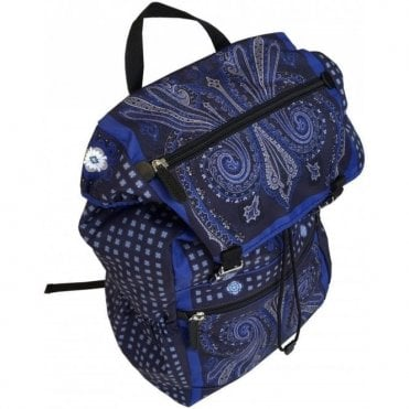 Etro Dark Blue Paisley Print Nylon Blend Backpack 1H758 8019 0200