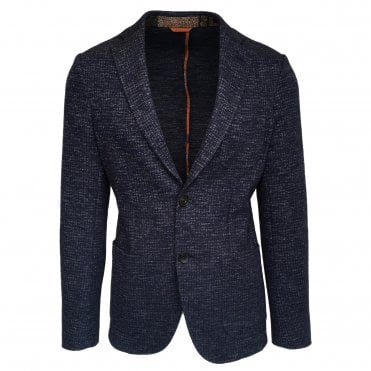 Etro Dark Blue Un-Lined Jacket