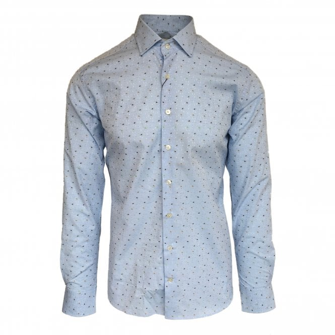 Etro Light Blue Triangle Pattern Shirt