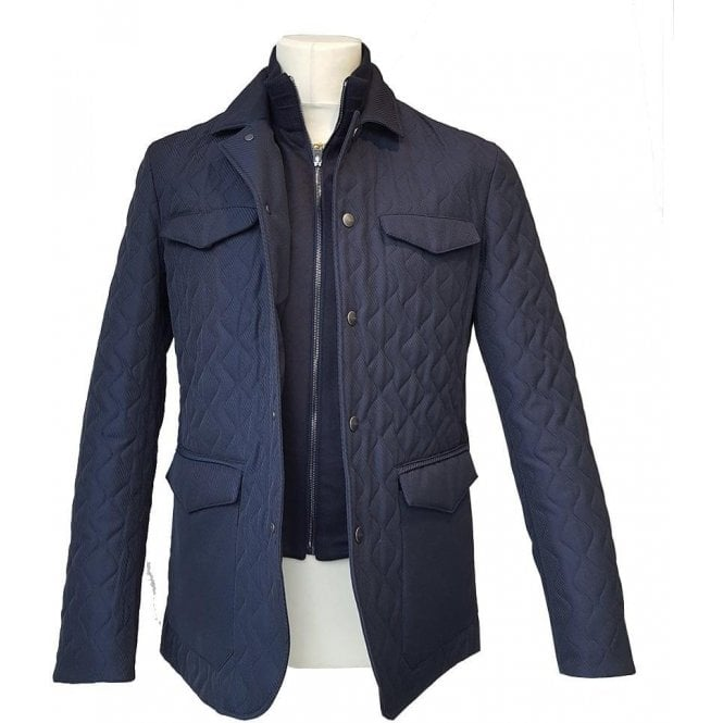 Etro Milano Casual Jacket in Navy U1S512 287 200