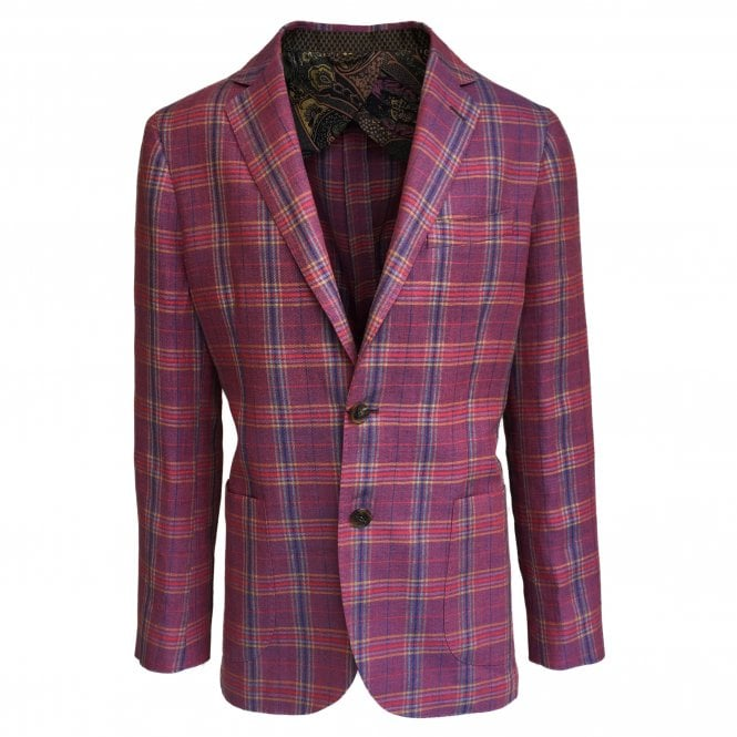 Etro Multicolour Check Unstructured Jacket