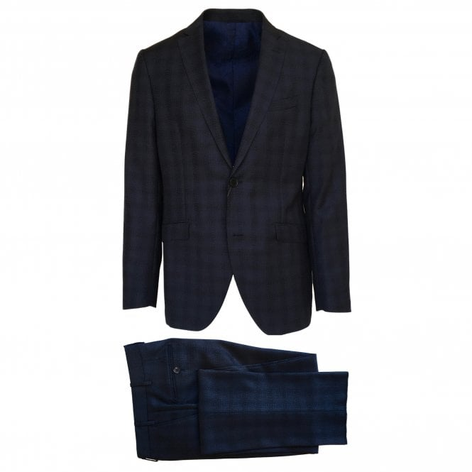 Etro Navy Check Suit