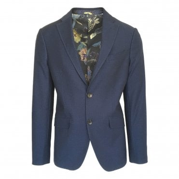 Etro Navy Diamond Jacquard Jersey Jacket