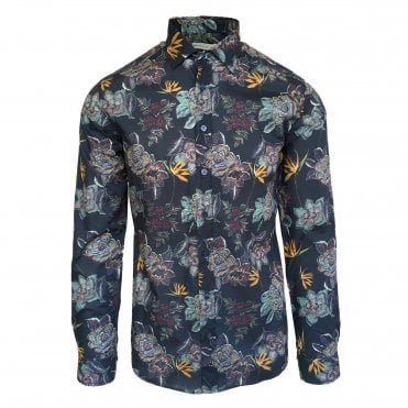 Etro Navy Floral Shirt