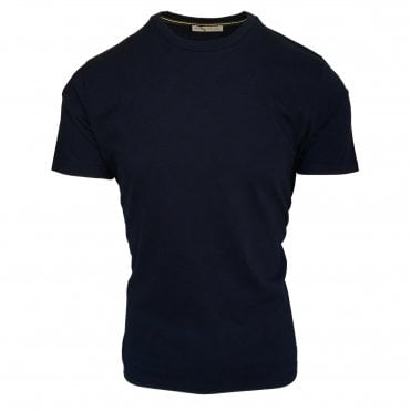 Etro Navy Subtle Mini Paisley Pattern T-Shirt