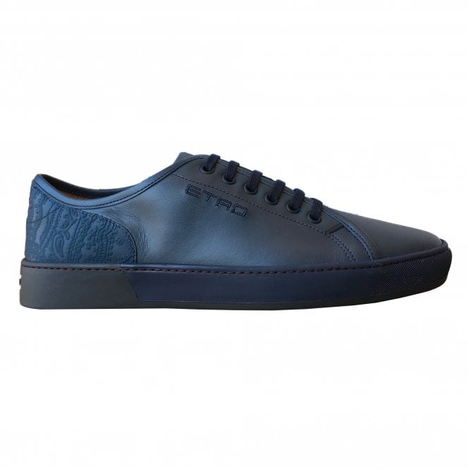 Etro Navy Trainer with Paisley Details