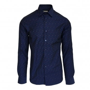 Etro Navy Triangle Pattern Shirt
