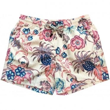 Etro Pink Floral Print Swimming Shorts 1B100 4772 8000