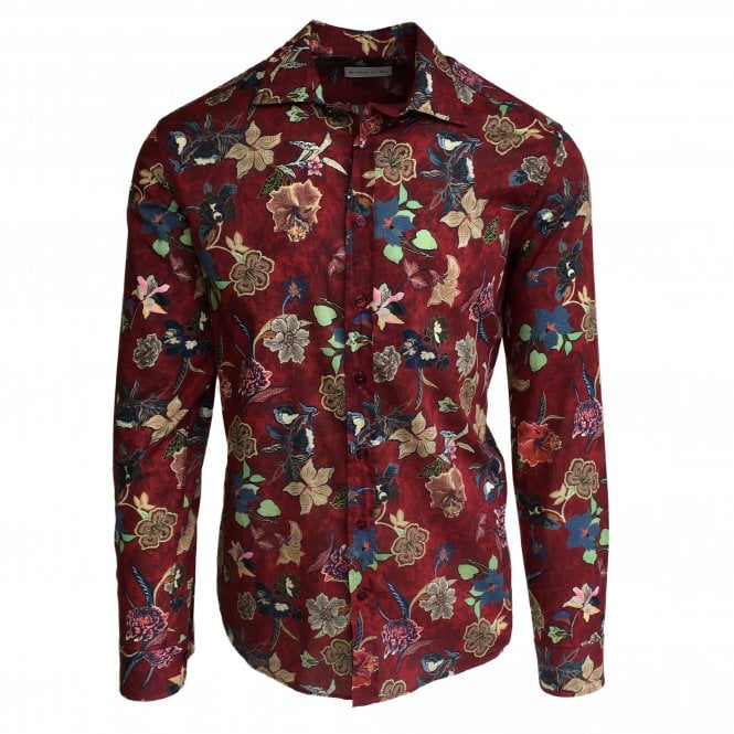 Etro Red Floral Shirt