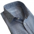 Etro Silver Grey Paisley Print Shirt with Contrast Collar 1291032192