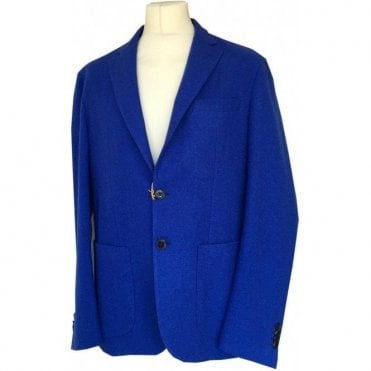 Etro SLIM FIT Bright Blue Wool Blend Suit Jacket U1G906 0141 202