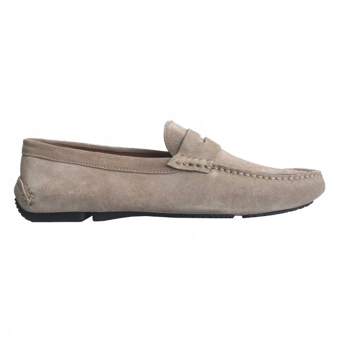 Fratelli Rossetti Beige Suede Driver Loafer