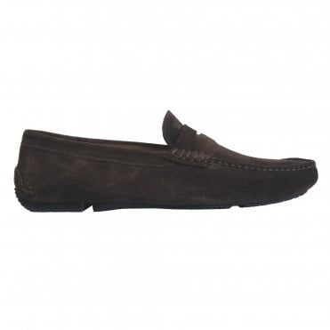 Fratelli Rossetti Brown Suede Driver Loafer