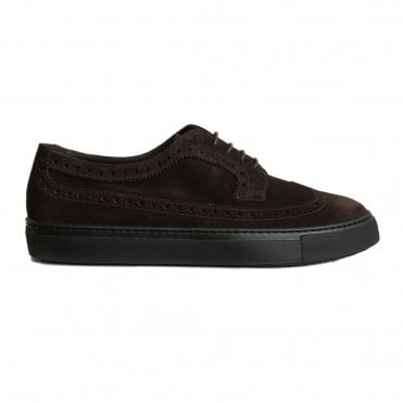 Fratelli Rossetti Chocolate Brown Brogue Trainer