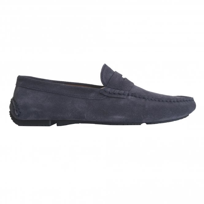 Fratelli Rossetti Navy Suede Driver Loafer