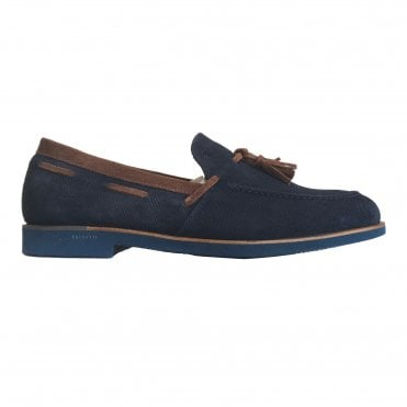 Fratelli Rossetti Navy Suede Tasselled Loafer