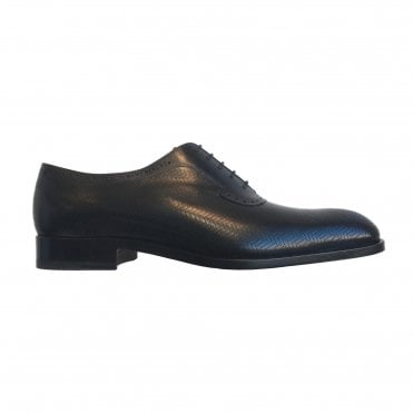Fratelli Rossetti Perforated Black 'Richelieu' Oxford Shoe