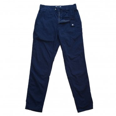 Frescobol Carioca Navy Tailored Seersucker Chino