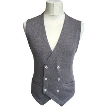 Gran Sasso Expressly For Robert Fuller Biscuit Double Breasted Waistcoat 56151 - 14252