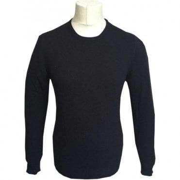 Gran Sasso Expressly For Robert Fuller Black Crewneck Wool/Cashmere Blend Jumper E55167 19690