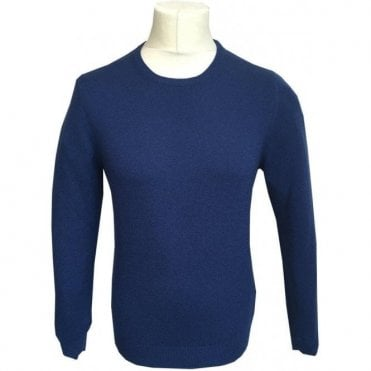 Gran Sasso Expressly For Robert Fuller Bright Blue Wool/Cashmere Blend Jumper 55167 19690