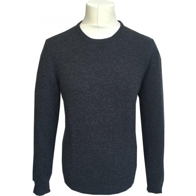Gran Sasso Expressly For Robert Fuller Charcoal Grey Crewneck Jumper 55167 19690