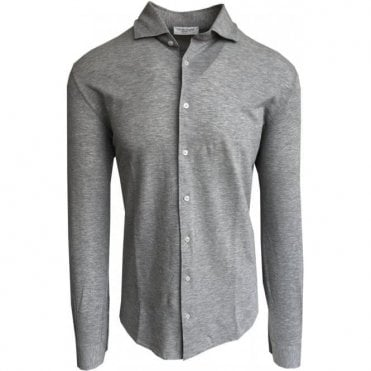 Gran Sasso Expressly For Robert Fuller Light Grey Leisure Shirt 60120 81402 800