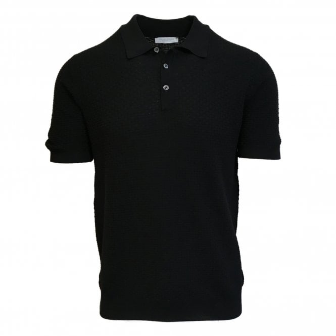 Gran Sasso Expressly For Robert Fuller Robert Fuller Black Knitted Polo