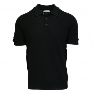 Robert Fuller Black Knitted Polo
