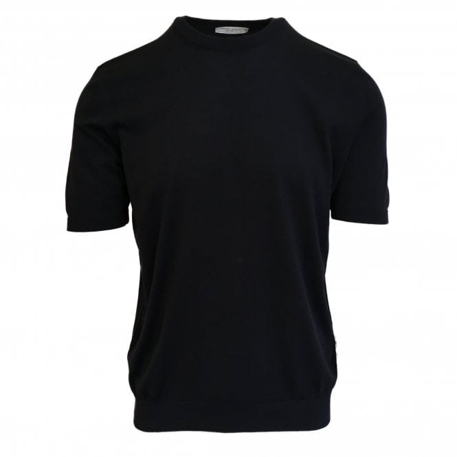 Gran Sasso Expressly For Robert Fuller Robert Fuller Black Knitted T-Shirt