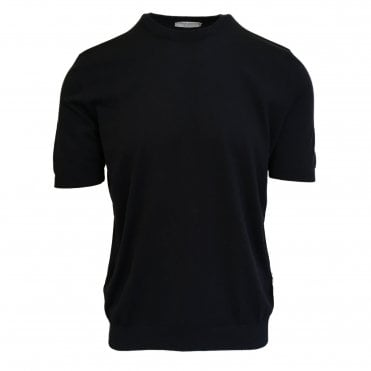 Robert Fuller Black Knitted T-Shirt