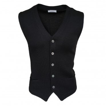 Robert Fuller Black Single Breasted Waistcoat