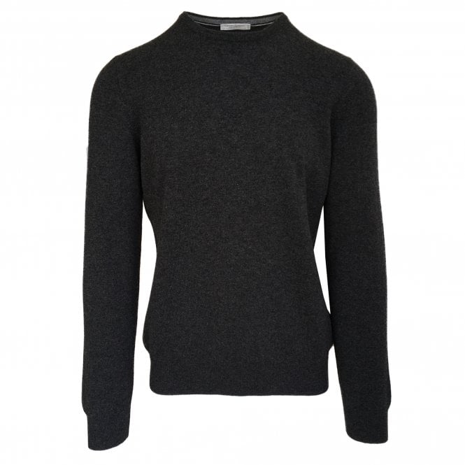 Gran Sasso Expressly For Robert Fuller Robert Fuller Charcoal Crew Neck Wool & Cashmere Jumper