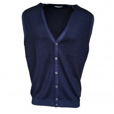 Robert Fuller Dark Blue Single Breasted Waistcoat