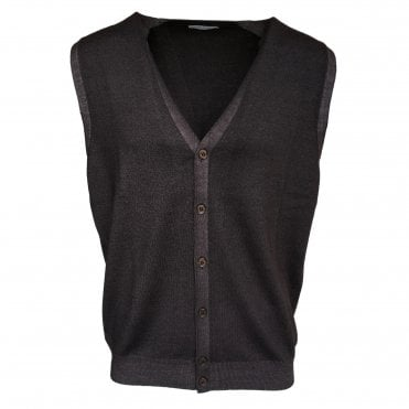 Robert Fuller Dark Brown Single Breasted Waistcoat