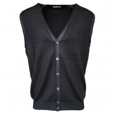 Robert Fuller Dark Grey Single Breasted Waistcoat