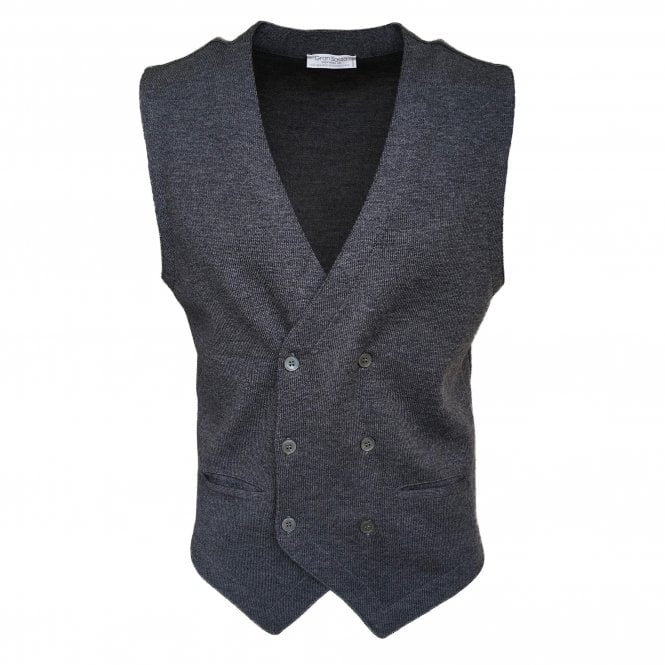 Gran Sasso Expressly For Robert Fuller Robert Fuller Grey Double Breasted Waistcoat