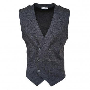 Robert Fuller Grey Double Breasted Waistcoat