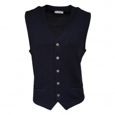 Robert Fuller Navy Single Breasted Waistcoat